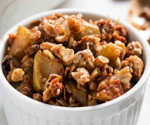 recette crumble pommes actifry