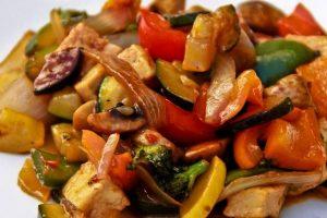recette legumes sautes oignons actifry