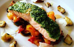 recette saumon au pesto actifry
